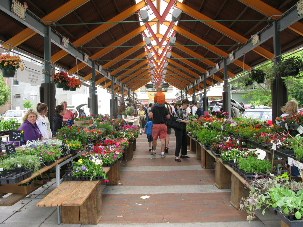 The Farmer's Market at Findlay Market in Over-the-Rhine, Cincinnati, Ohio. Credit: Wholtone
